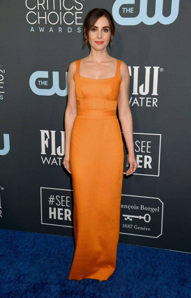 Alison Brie de Brandon Maxwell no Critics' Choice Awards 2020