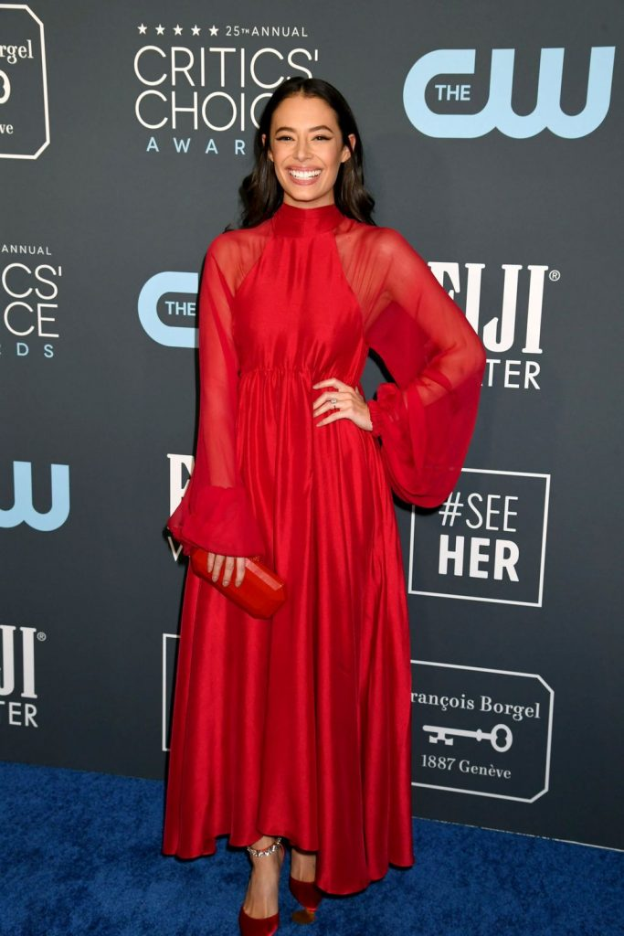Chloe Bridges de Azeeza no Critics' Choice Awards 2020