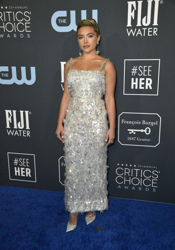 Florence Pugh de Prada no Critics' Choice Awards 2020