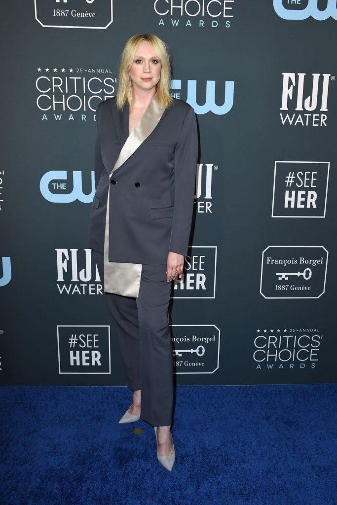 Gwendoline Christie de Dior no Critics' Choice Awards 2020