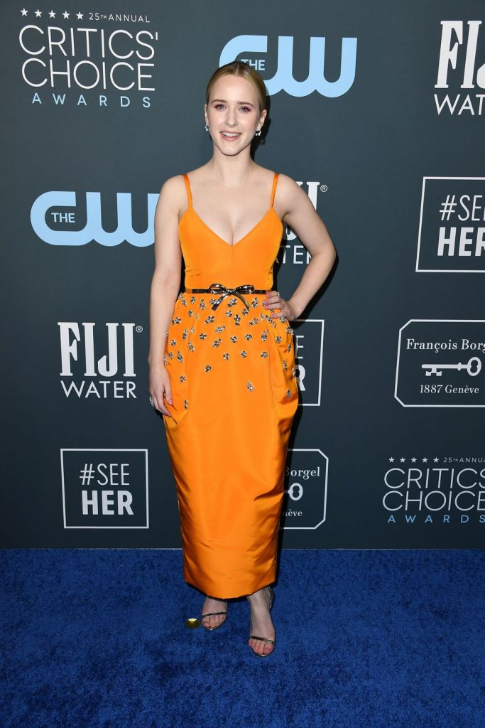 Rachel Brosnahan de Carolina Herrera no Critics' Choice Awards 2020