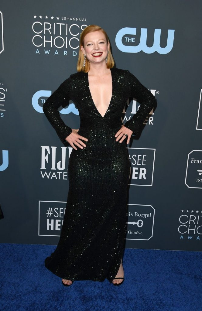 Sarah Snook de Galvan London no Critics' Choice Awards 2020